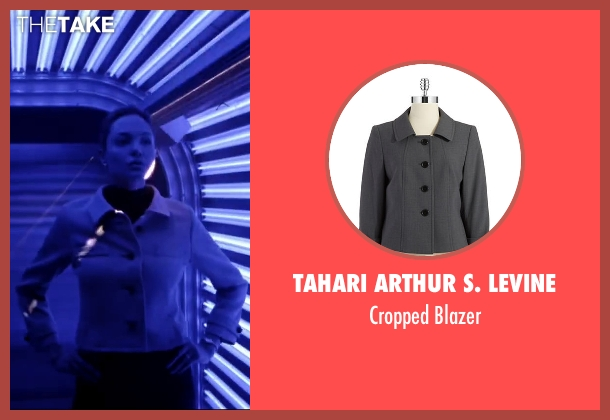 Tahari Arthur S. Levine gray blazer from Mr. & Mrs. Smith seen with Angelina Jolie (Jane Smith)