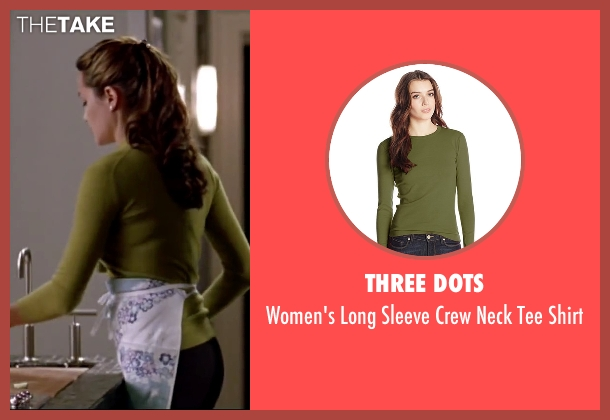 Three Dots green shirt from Mr. & Mrs. Smith seen with Angelina Jolie (Jane Smith)