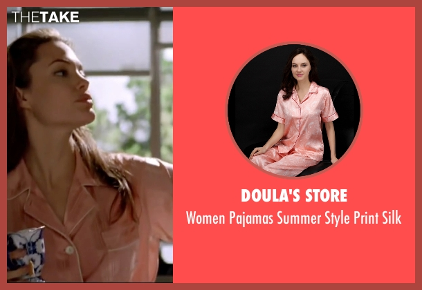 Doula's Store pink silk from Mr. & Mrs. Smith seen with Angelina Jolie (Jane Smith)