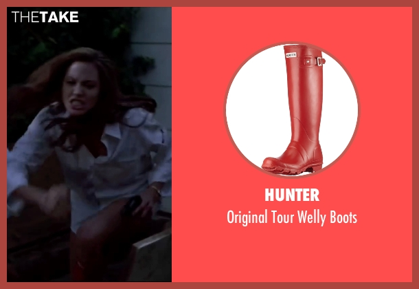 Hunter red boots from Mr. & Mrs. Smith seen with Angelina Jolie (Jane Smith)