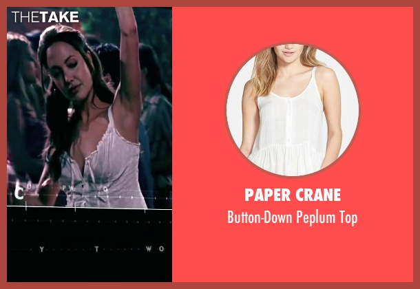 Paper Crane white top from Mr. & Mrs. Smith seen with Angelina Jolie (Jane Smith)