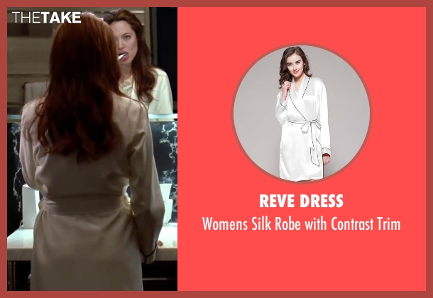 Reve Dress white trim from Mr. & Mrs. Smith seen with Angelina Jolie (Jane Smith)