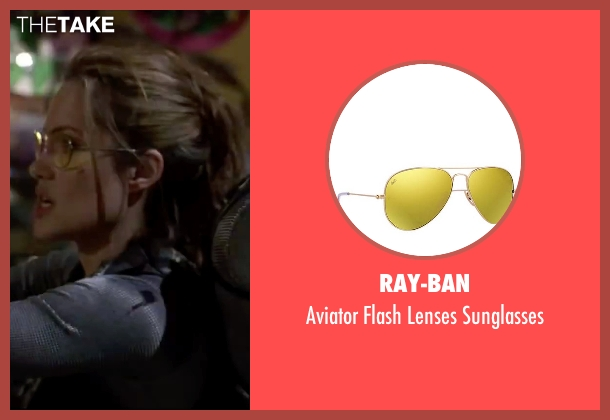 Ray-Ban yellow sunglasses from Mr. & Mrs. Smith seen with Angelina Jolie (Jane Smith)