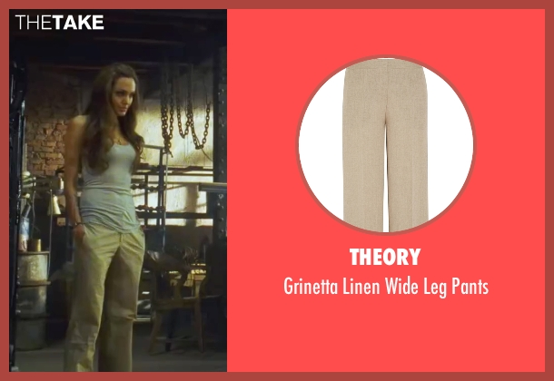 Theory  beige pants from Wanted seen with Angelina Jolie (Fox)