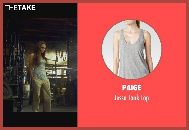 Paige gray top from Wanted seen with Angelina Jolie (Fox)