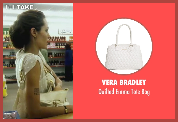 Vera Bradley white bag from Wanted seen with Angelina Jolie (Fox)