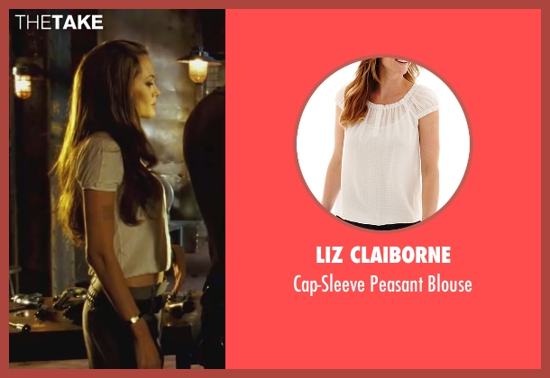 Liz Claiborne white blouse from Wanted seen with Angelina Jolie (Fox)