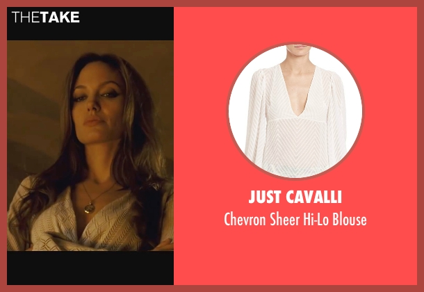 Just Cavalli white blouse from Wanted seen with Angelina Jolie (Fox)