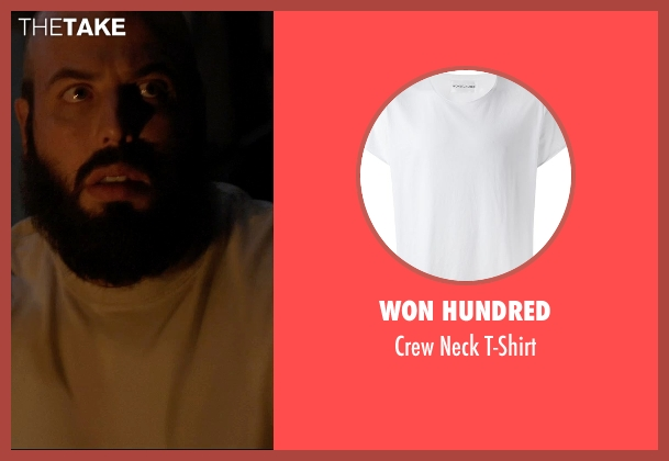 Won Hundred white t-shirt from Insidious: Chapter 3 seen with Angus Sampson (Tucker)