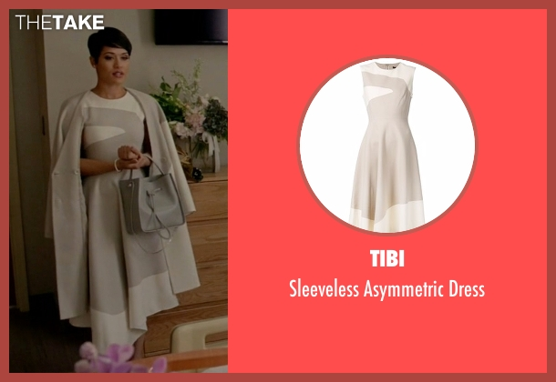Tibi beige dress from Empire seen with Anika Calhoun (Grace Gealey)