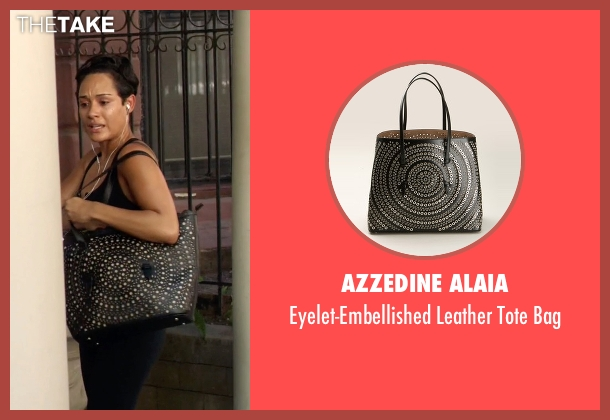 Azzedine Alaia black bag from Empire seen with Anika Calhoun (Grace Gealey)