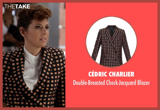 Cédric Charlier black blazer from Empire seen with Anika Calhoun (Grace Gealey)