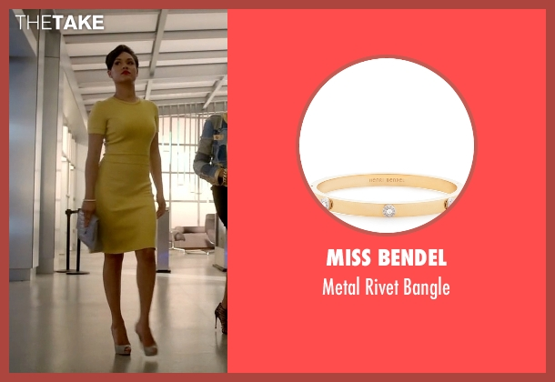 Miss Bendel gold bangle from Empire seen with Anika Calhoun (Grace Gealey)