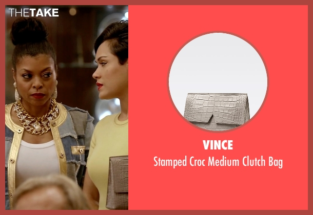 Vince gray bag from Empire seen with Anika Calhoun (Grace Gealey)