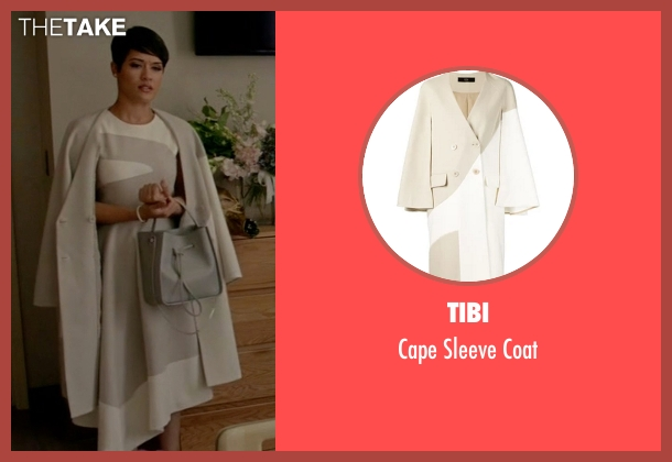 Tibi gray coat from Empire seen with Anika Calhoun (Grace Gealey)