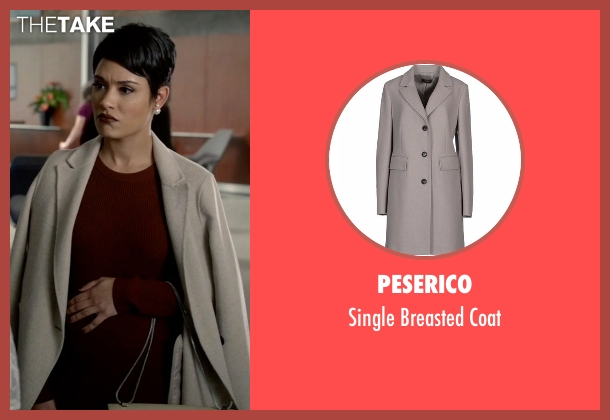 Peserico gray coat from Empire seen with Anika Calhoun (Grace Gealey)