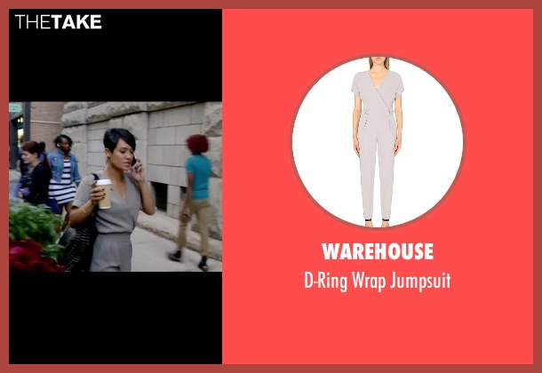 Warehouse gray jumpsuit from Empire seen with Anika Calhoun (Grace Gealey)