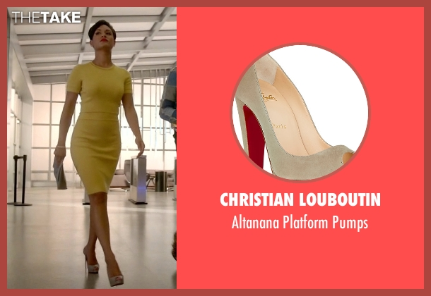 Christian Louboutin gray pumps from Empire seen with Anika Calhoun (Grace Gealey)