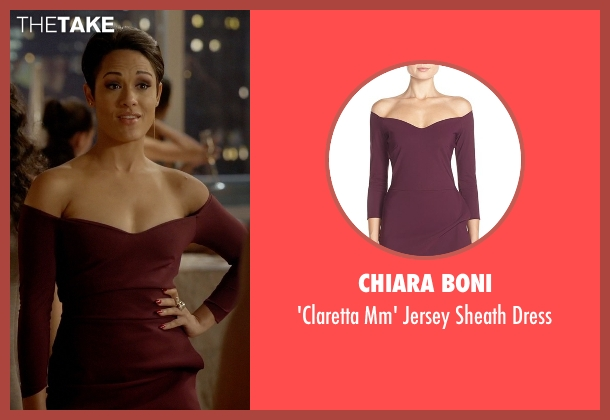 Chiara Boni red dress from Empire seen with Anika Calhoun (Grace Gealey)