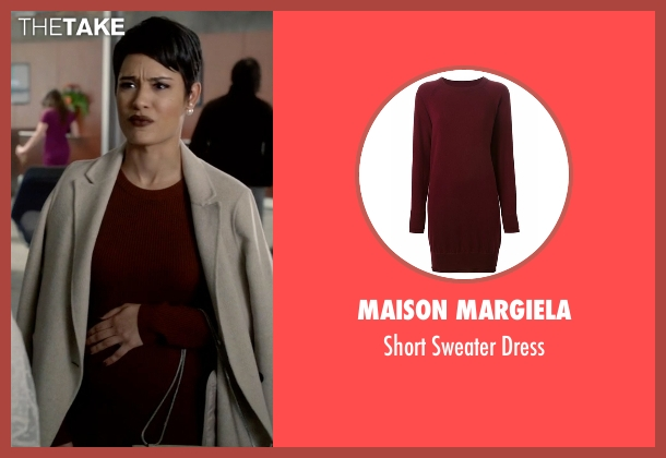 Maison Margiela red dress from Empire seen with Anika Calhoun (Grace Gealey)