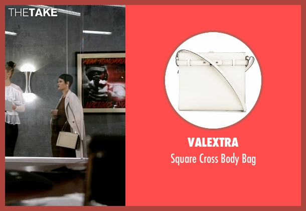 Valextra white bag from Empire seen with Anika Calhoun (Grace Gealey)