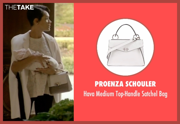 Proenza Schouler white bag from Empire seen with Anika Calhoun (Grace Gealey)
