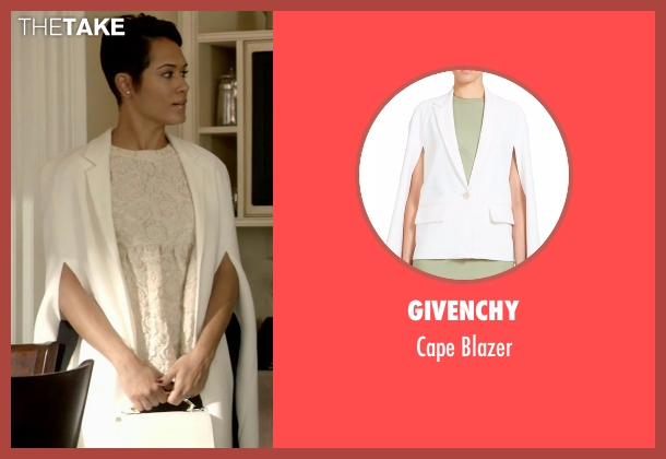 Givenchy white blazer from Empire seen with Anika Calhoun (Grace Gealey)