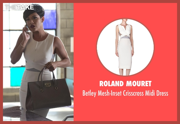 Roland Mouret white dress from Empire seen with Anika Calhoun (Grace Gealey)