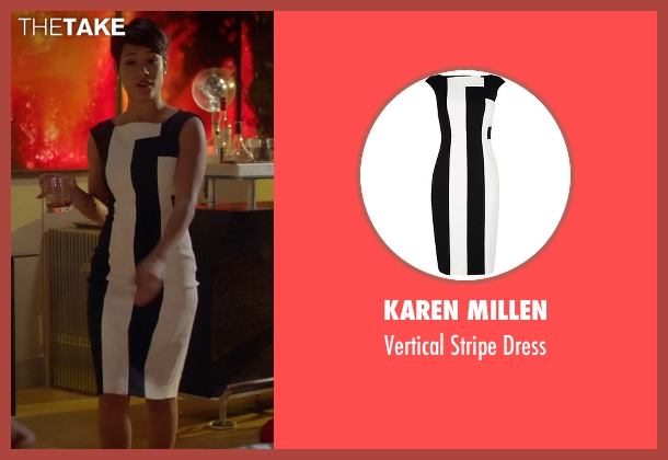 Karen Millen white dress from Empire seen with Anika Calhoun (Grace Gealey)