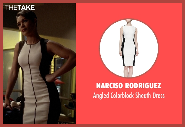 Narciso Rodriguez white dress from Empire seen with Anika Calhoun (Grace Gealey)