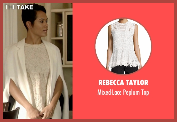 Rebecca Taylor white top from Empire seen with Anika Calhoun (Grace Gealey)