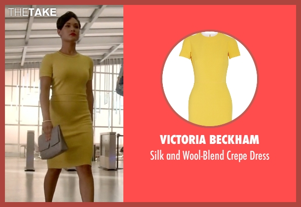 Victoria Beckham yellow dress from Empire seen with Anika Calhoun (Grace Gealey)