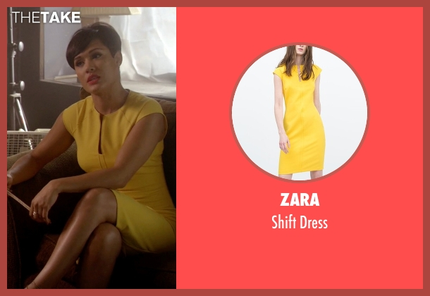 Zara yellow dress from Empire seen with Anika Calhoun (Grace Gealey)