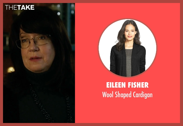 Eileen Fisher black cardigan from Our Brand Is Crisis seen with Ann Dowd (Nell)