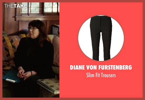Diane Von Furstenberg black trousers from Our Brand Is Crisis seen with Ann Dowd (Nell)