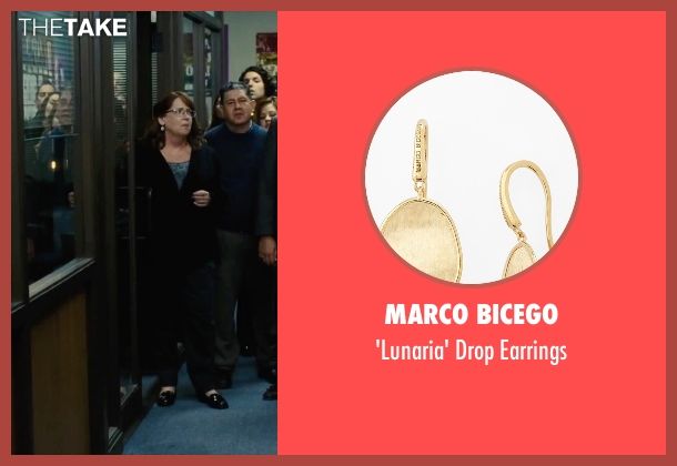Marco Bicego gold earrings from Our Brand Is Crisis seen with Ann Dowd (Nell)