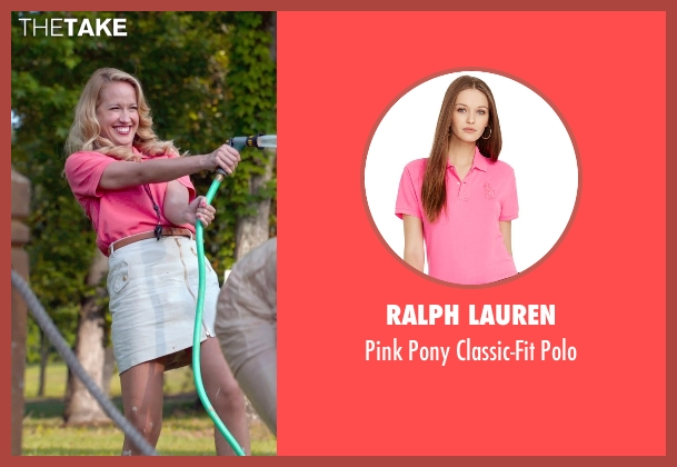 Ralph Lauren pink polo from Pitch Perfect 2 seen with Anna Camp (Aubrey)