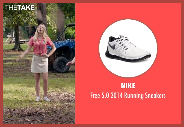Nike white sneakers from Pitch Perfect 2 seen with Anna Camp (Aubrey)