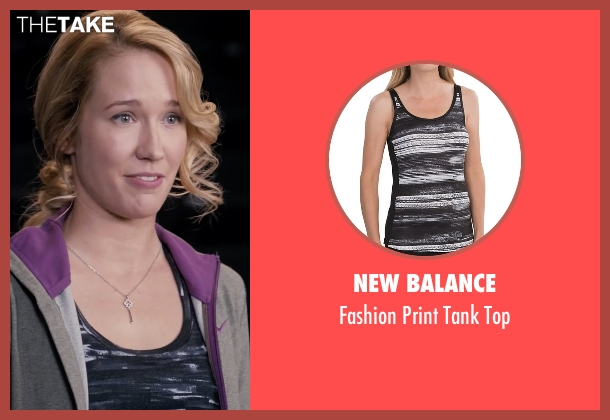 New Balance black top from Pitch Perfect seen with Anna Camp (Aubrey)