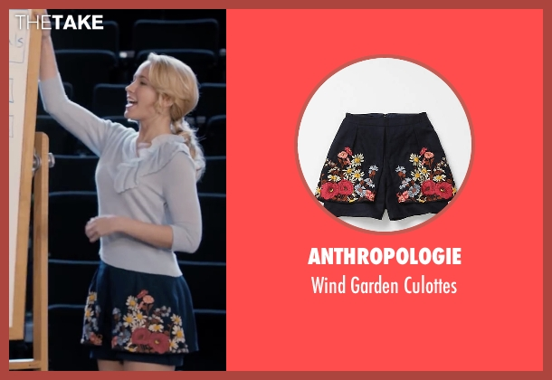 Anthropologie blue culottes from Pitch Perfect seen with Anna Camp (Aubrey)