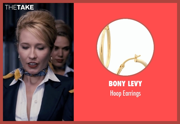 Bony Levy gold earrings from Pitch Perfect seen with Anna Camp (Aubrey)