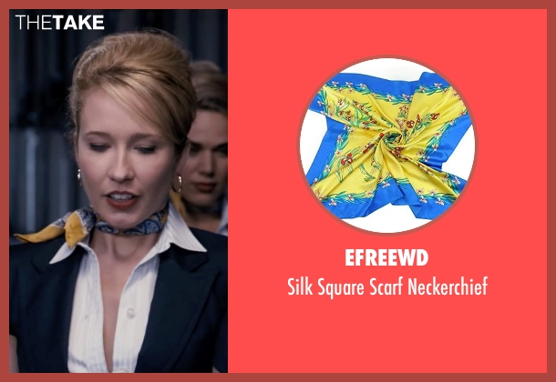 Efreewd yellow neckerchief from Pitch Perfect seen with Anna Camp (Aubrey)