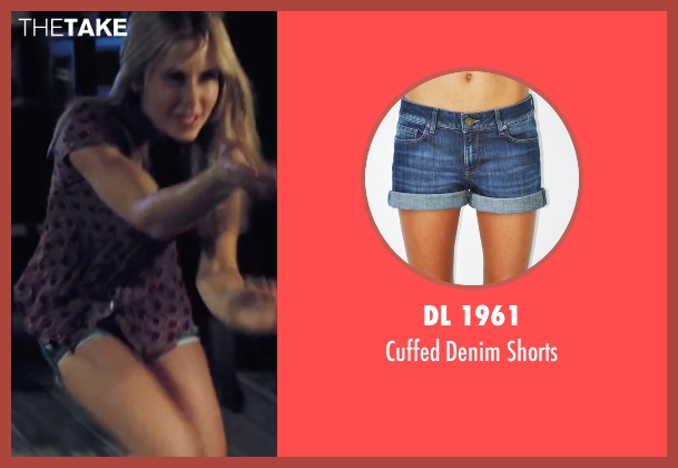 Dl 1961 blue shorts from Cabin in the Woods seen with Anna Hutchison (Jules)