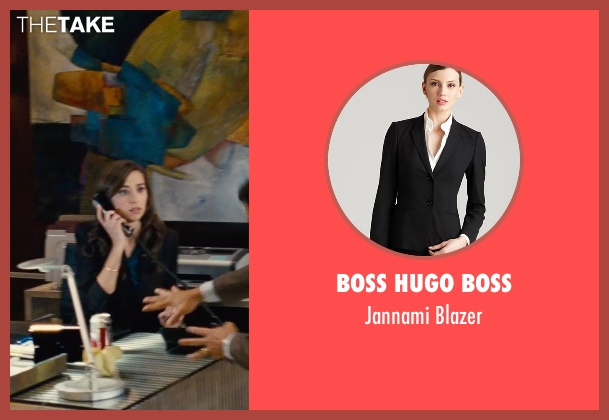 Boss Hugo Boss black blazer from Entourage seen with Anna Jaller (Dana's Assistant)