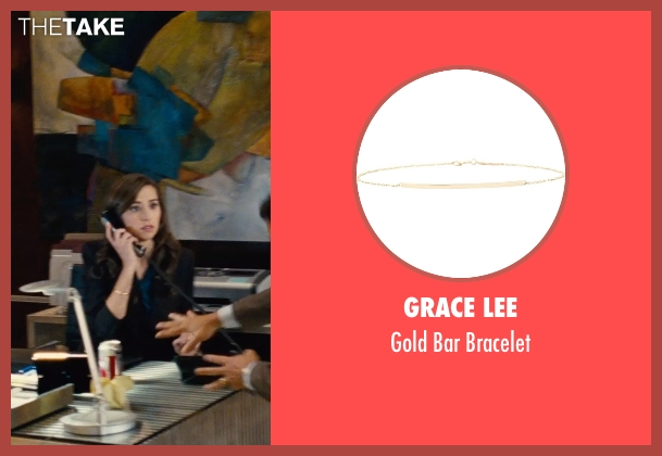 Grace Lee gold bracelet from Entourage seen with Anna Jaller (Dana's Assistant)