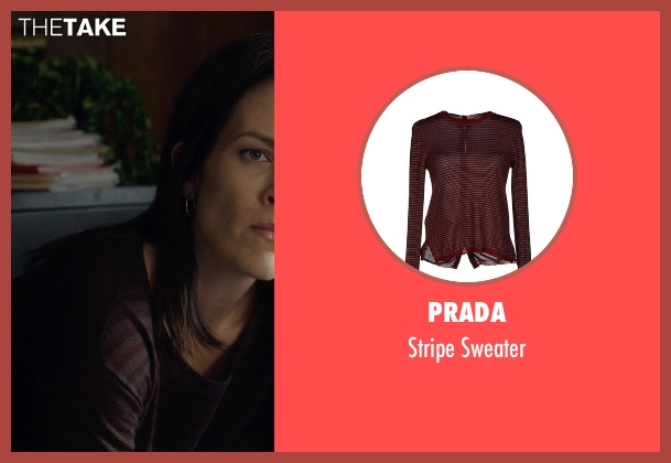 Prada red sweater from Before I Wake seen with Annabeth Gish (Natalie)