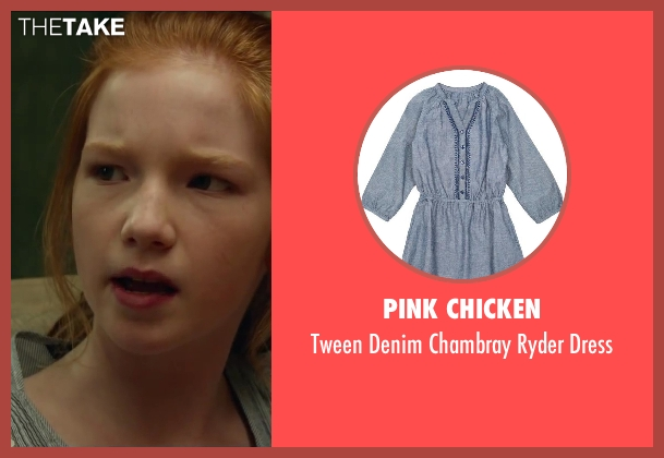 Pink Chicken blue dress from Oculus seen with Annalise Basso (Young Kaylie Russell)