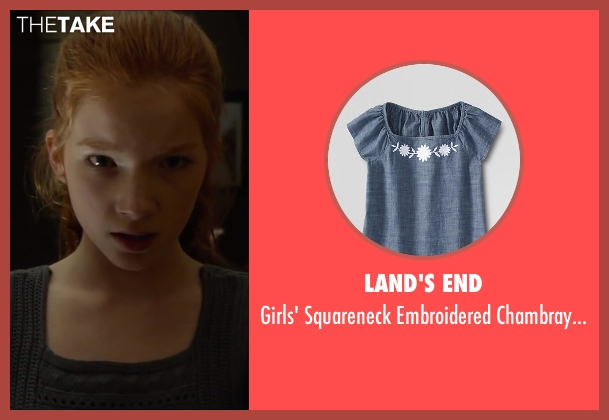 Land's End gray top from Oculus seen with Annalise Basso (Young Kaylie Russell)