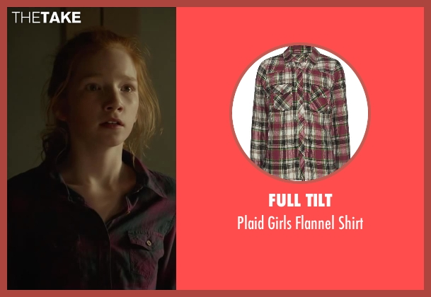 FULL TILT red shirt from Oculus seen with Annalise Basso (Young Kaylie Russell)
