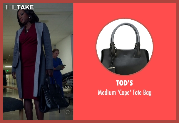 Tod's black bag from How To Get Away With Murder seen with Annalise Keating (Viola Davis)